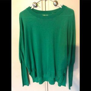 Anthropologie Little Yellow Bird Green Sweater